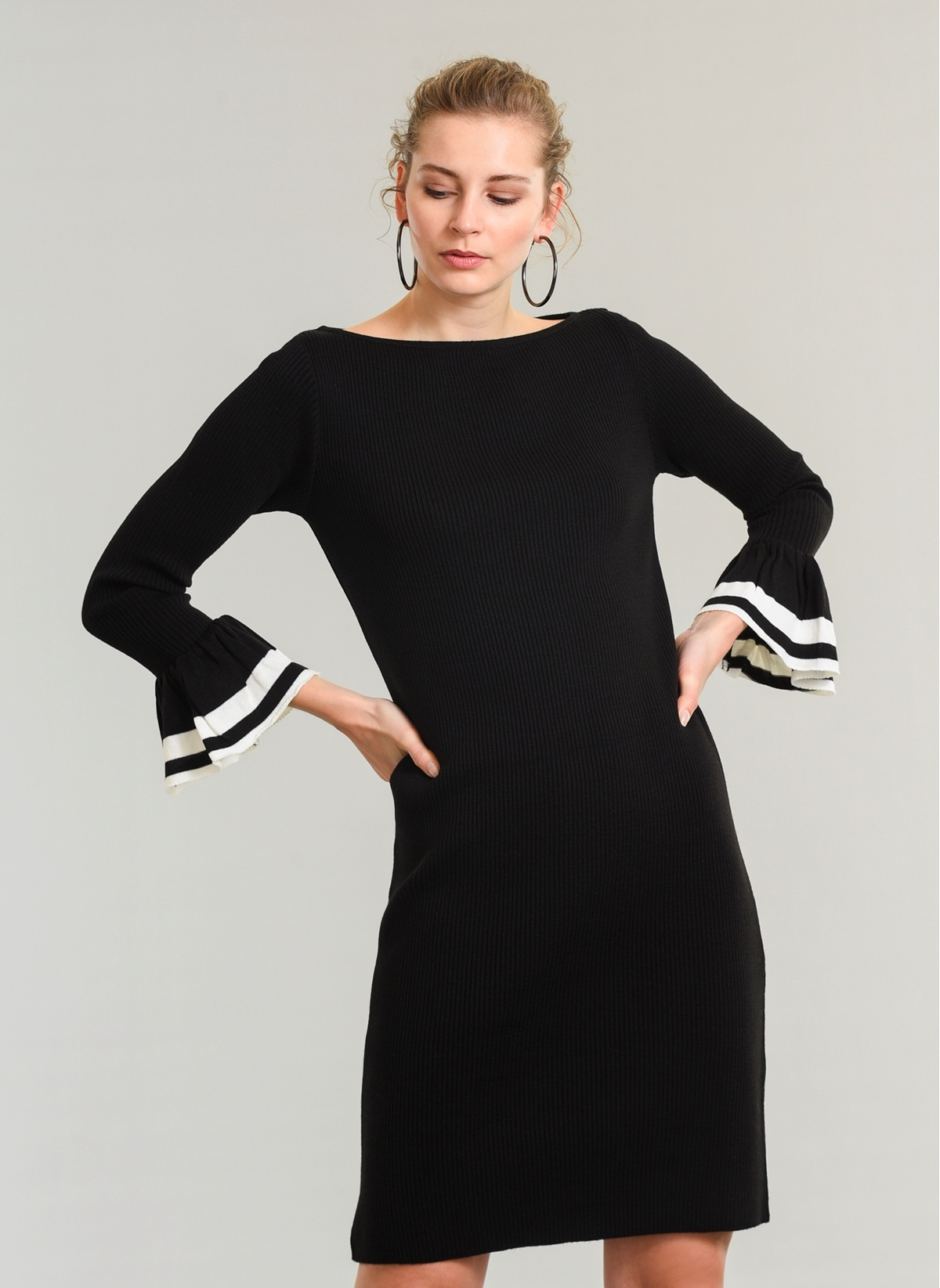85e0fa2de2565 People By Fabrika Kolu Volan Detaylı Elbise